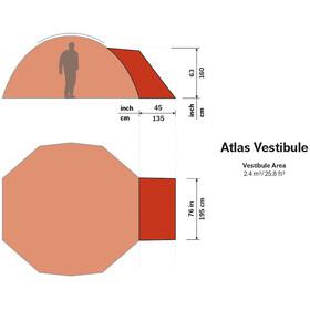 Hilleberg Atlas Vestibule, red